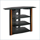 Bello Black Flat Panel Glass 4 Shelf  TV Stand