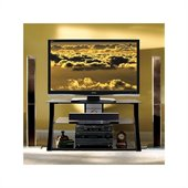 Bello High Gloss Black Flat Panel Audio Video System TV Stand in Black Finish