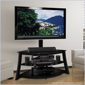Bello Triple Play Universal TV Stand AV System with Swivel TV Mounting in Black