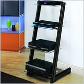 Bello 4 Shelf Audio Tower in Black