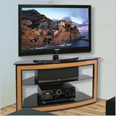 Bello Wood and Metal Flat Panel/LCD/Plasma Corner TV Stand