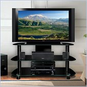 Bello LCD/Plasma Glass TV Stand in Black Finish