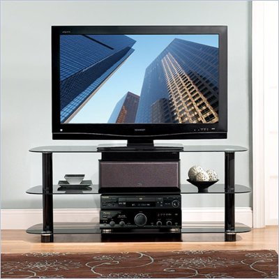 Bello High Gloss Black Flat Panel Audio Video System
