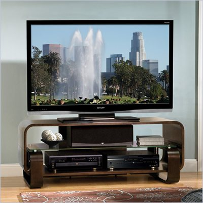 Bello Flat Panel/LCD/Plasma TV Stand in Espresso Finish
