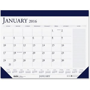 House of Doolittle Two-Color Monthly Desk Pad Calendar