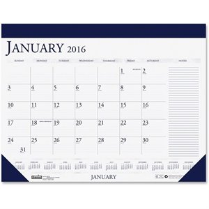 House of Doolittle Two-Color Compact Desk Pad Calendar