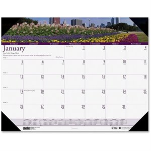 House of Doolittle Earthscapes Gardens of the World Desk Pad Calendar