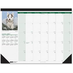 House of Doolittle Earthscapes Puppies Desk Pad Calendar