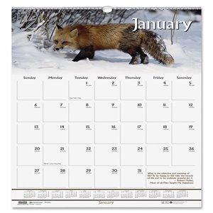 House of Doolittle Wildlife Wall Calendar