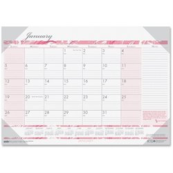 House of Doolittle Breast Cancer Awareness Compact Desk Pad Calendar