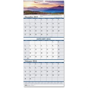 Doolittle Scenic 3-month Compact Wall Calendar