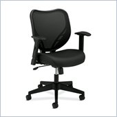 Basyx VL551VB10 Mesh Mid Back Management Chair