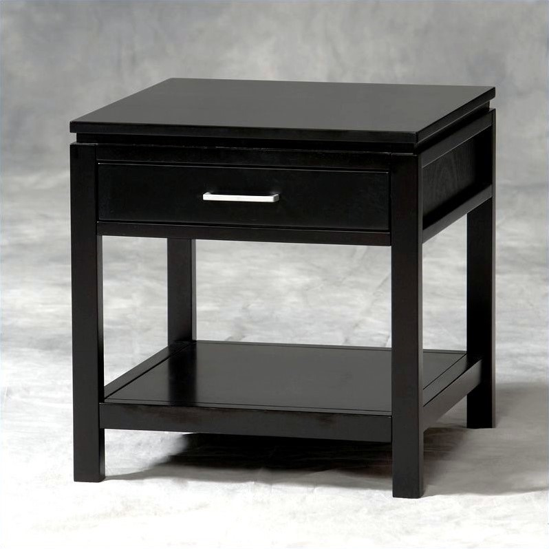 Linon Sutton Black Amp End Coffee Table Set