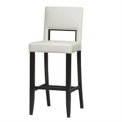 Linon Vega 30 High White Bar Stool