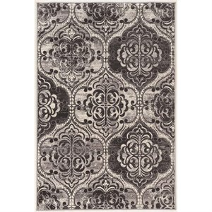Linon Vintage 8' x 10' King Arthur Power Loomed Rug in Ivory