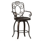 Linon Crested Back 24 High Counter Stool