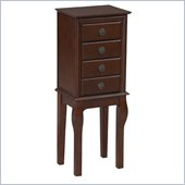 Linon Diamond Espresso Jewelry Armoire