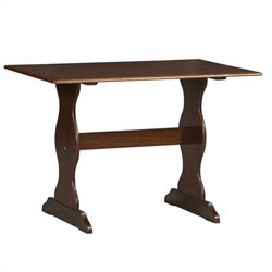 Linon Chelsea Nook Dining Table in Walnut
