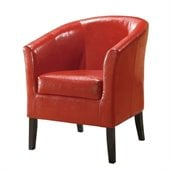 Linon Simon Club Chair in Red