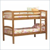 Linon Mission Bunkbed in Pecan