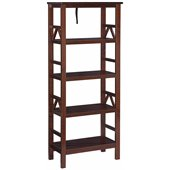 Linon Titian Bookcase in Antique Tobacco
