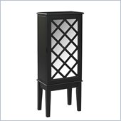 Linon Helen Jewelry Armoire in Black