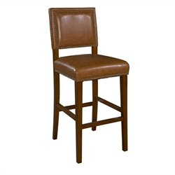 Linon Brook 24 Inch Caramel Counter Stool in Brown