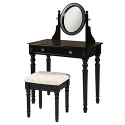 Linon Lorraine Vanity Set in Black