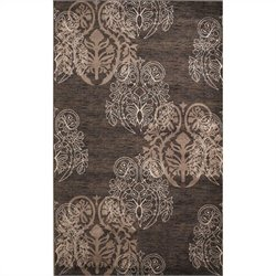 Linon Rugs Milan Rectangular Area Rug in Brown and Beige