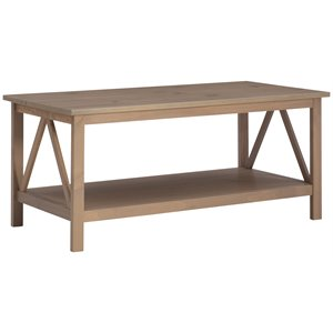 Linon Titian Coffee Table in Driftwood