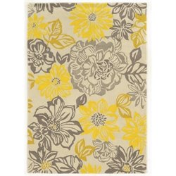 Linon Trio 5' x 7' Hand Tufted Rug in Grey and Yellow