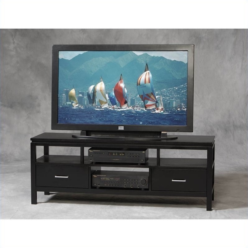 Sutton Flat Panel/Plasma/LCD TV Stand in Black Finish