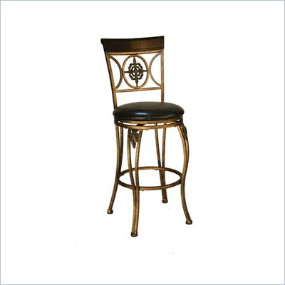 Linon Fleur De Lis 24 Inch Counter Stool
