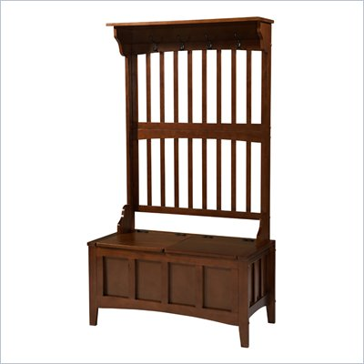 Linon Mission Hall Tree Storage Bench