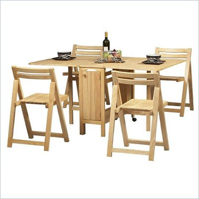 Linon Space Saver Table Set in Natural