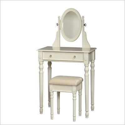 Linon Lorraine Vanity Set-White