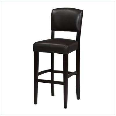 Linon Monaco 30 Inch Bar Stool in Espresso