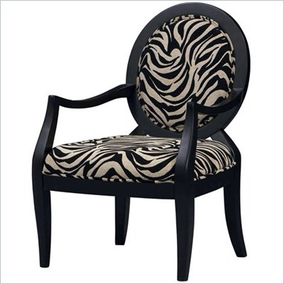 Linon Occasional Accent Chair in Zebra Print