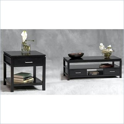Linon Sutton Black Coffee Table and End Table Set