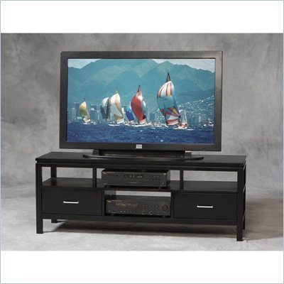 Linon Sutton Flat Panel/Plasma/LCD TV Stand in Black Finish