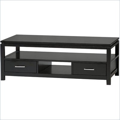 Linon Sutton Black Contemporary Coffee Table