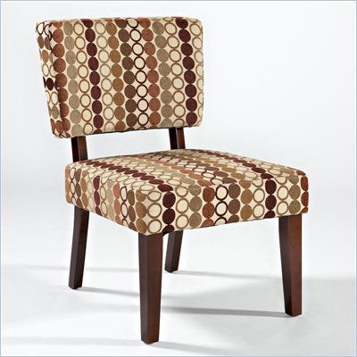 Linon Taylor Accent Chair with Earth Tone Rings Pattern