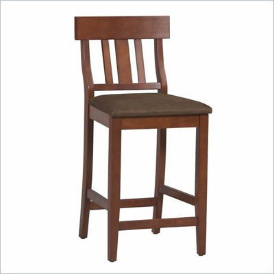 Linon Torino Slat Back Bar Stool 30&quot; in Dark Cherry