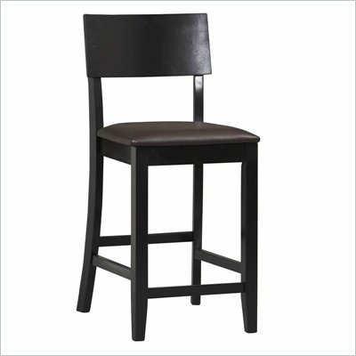 "Linon Torino Contemporary Counter Stool 24"" in Black"