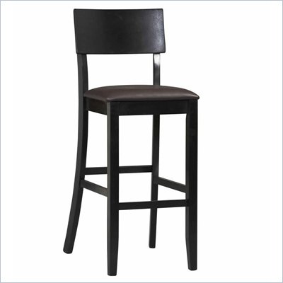 Linon Torino Contemporary Bar Stool 30&quot; in Black
