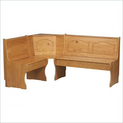 Linon Chelsea Kitchen Dining Nook Corner Bench in Natural