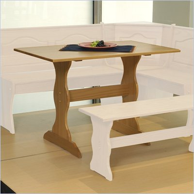 Linon Chelsea Kitchen Dining Nook Table in Natural