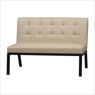 Linon Trento Slipper Contemporary Loveseat