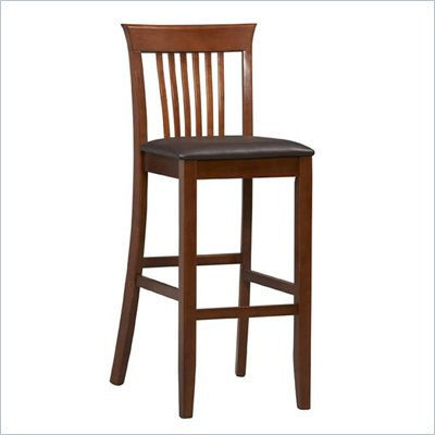 Linon Triena Collection 30&quot; High Craftsman Bar Stool in Dark Cherry