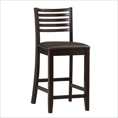 Linon Triena Collection 24&quot; High Ladder Counter Stool